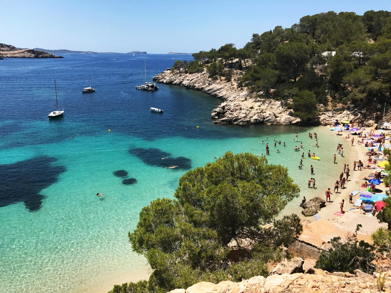 People On A Tropical Beach In Ibiza