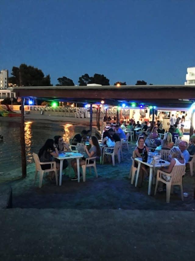 Restaurant On A Beach By The Sea
