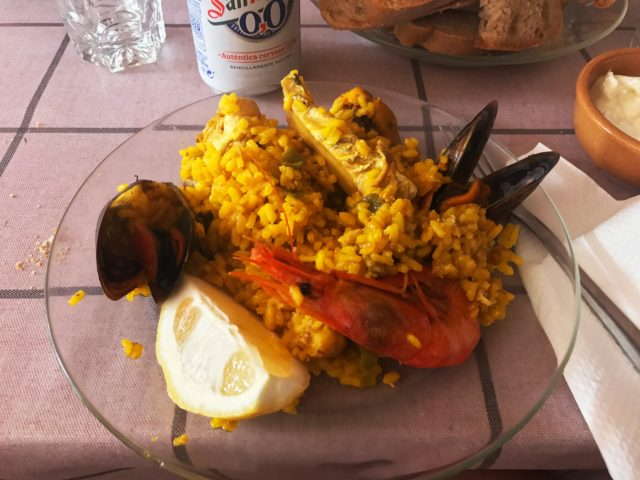 Spanish Paella On A Plate