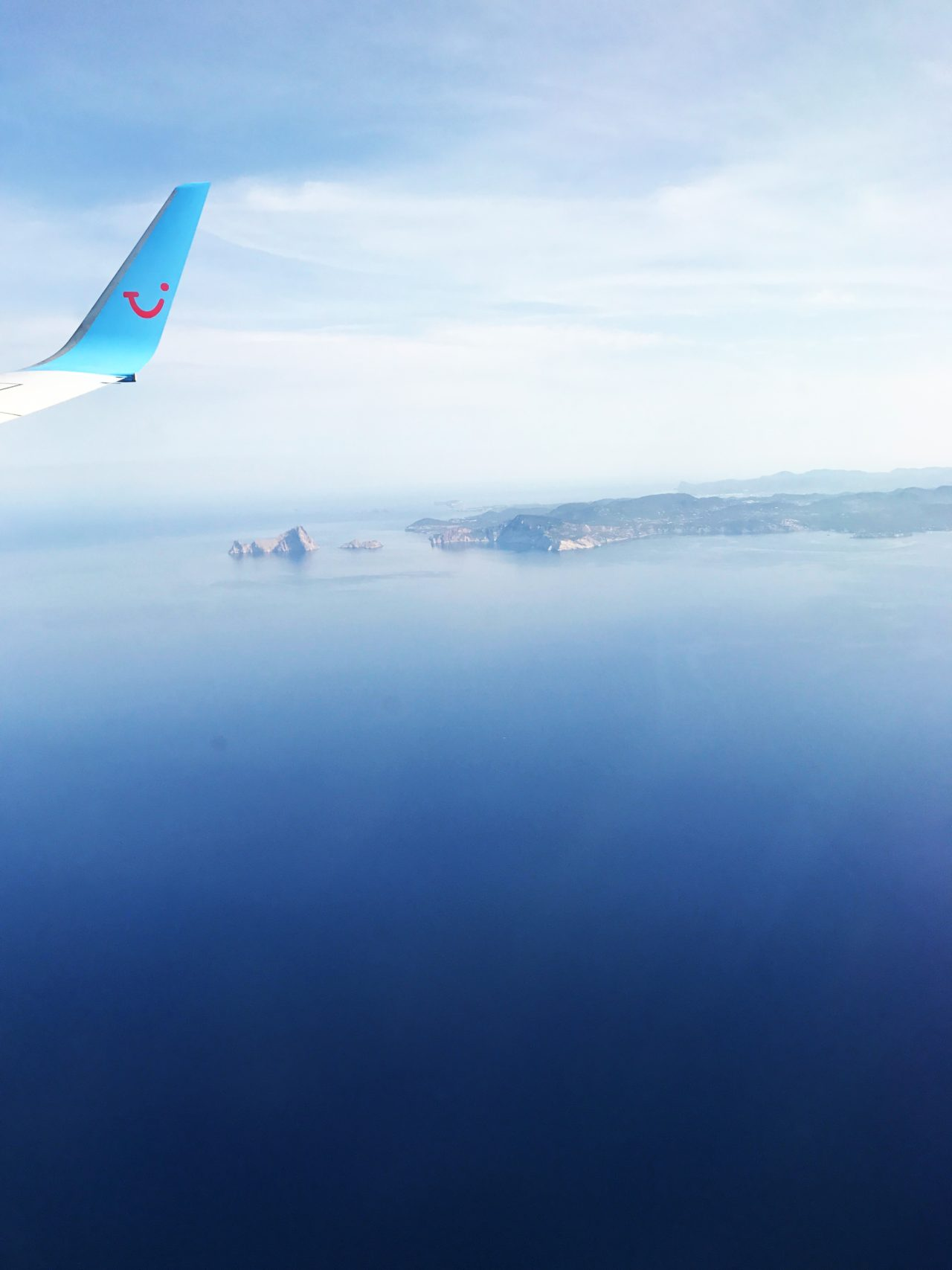Flying Over The Sea Spotting An Island