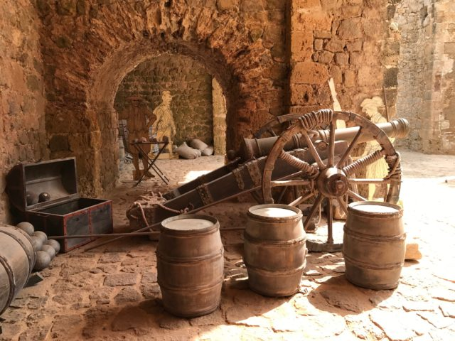 Ancient Stone Castle Canon & Barrels