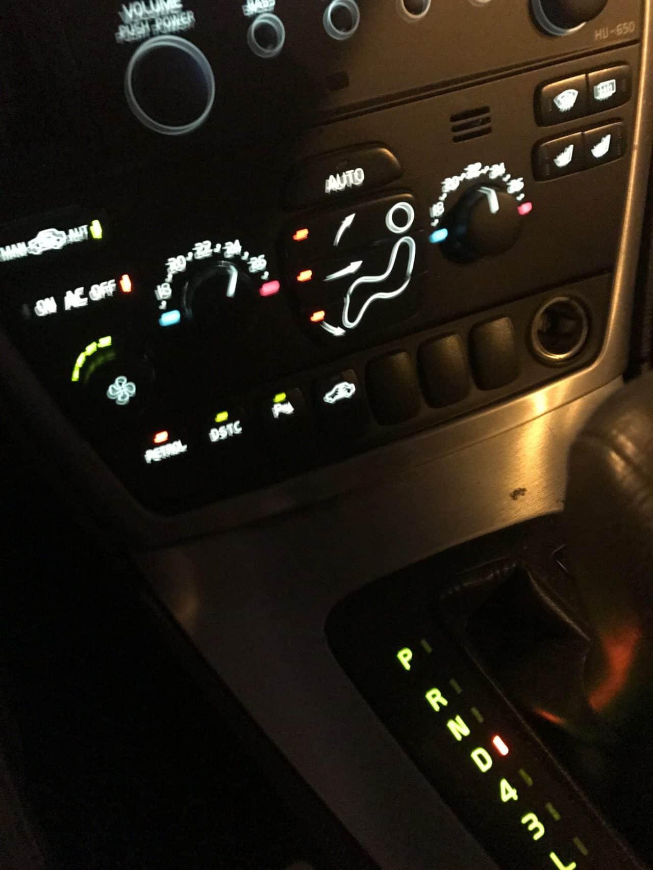 Blurry Dashboard Controls Inside A Volvo Car