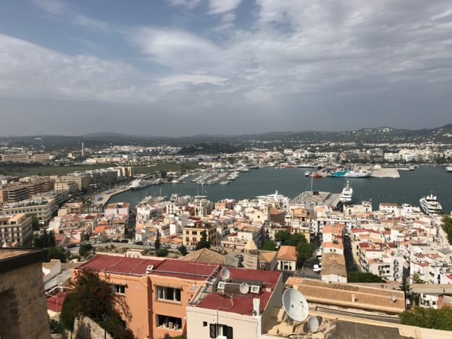 Ibiza Town And Harbor City Aerial View