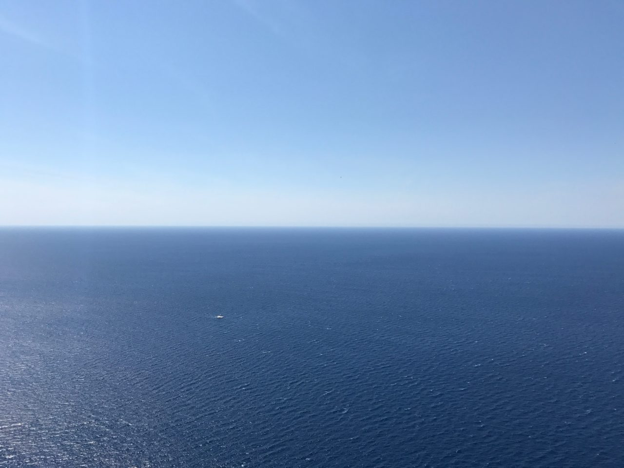 Infinite Blue Ocean View Of Sky And Water