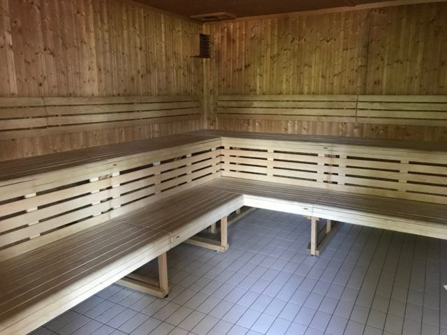 Relaxation Steam Sauna Covered In Wood