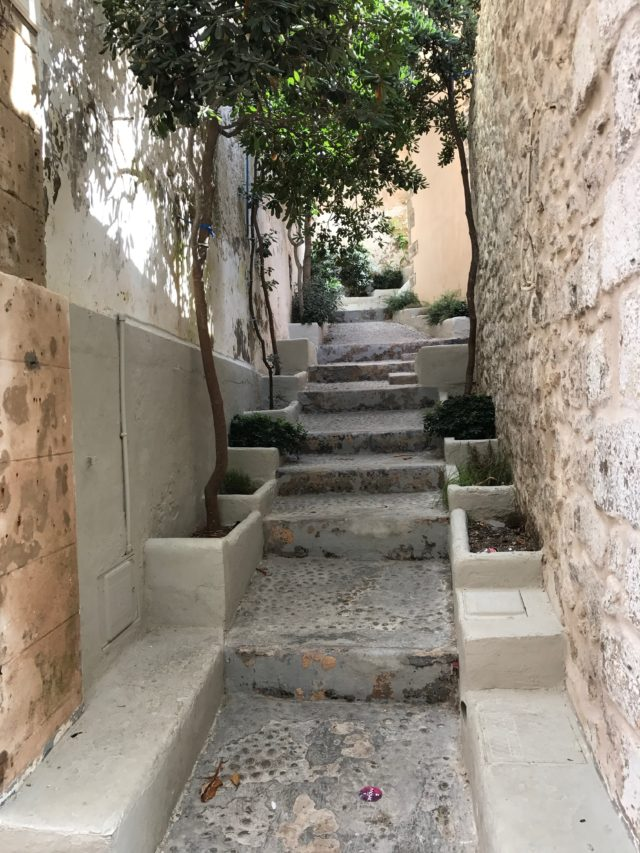 Narrow Cobblestone Street Alley Stairs Way