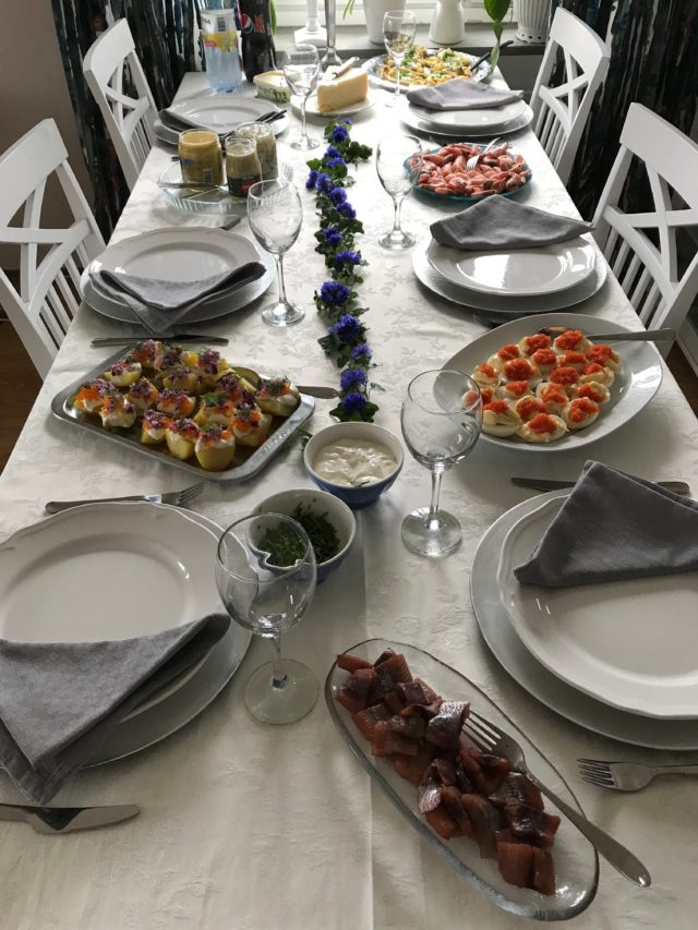 Swedish Midsummer Celebration Dinner Table