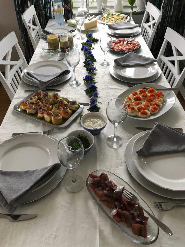 Swedish Midsummer Celebration Dinner Table