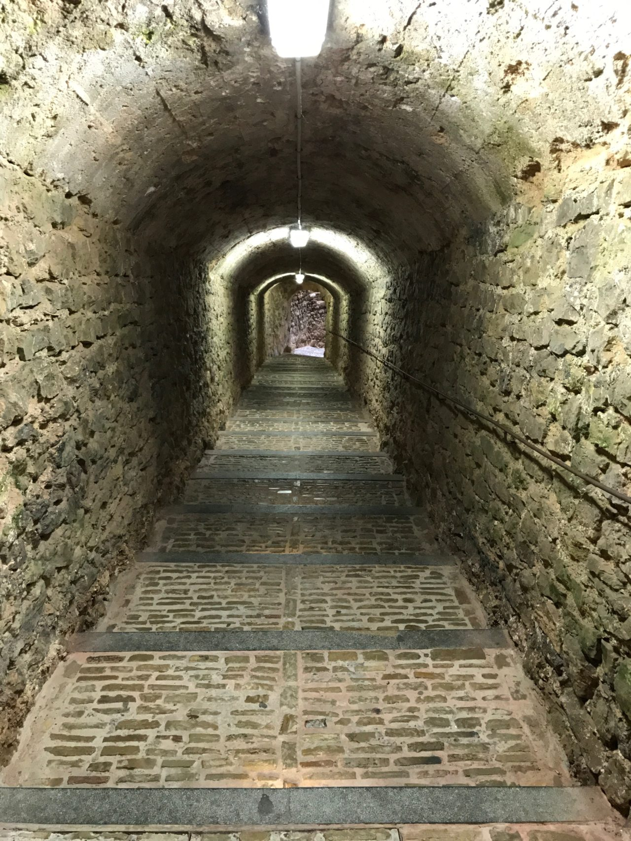 Ancient Underground Arched Castle Tunnel
