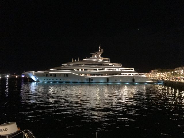 Luxury Yacht In Ibiza Town Harbor