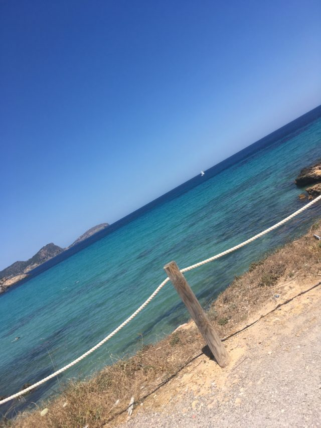 Blue Ocean Fence Rope In Ibiza