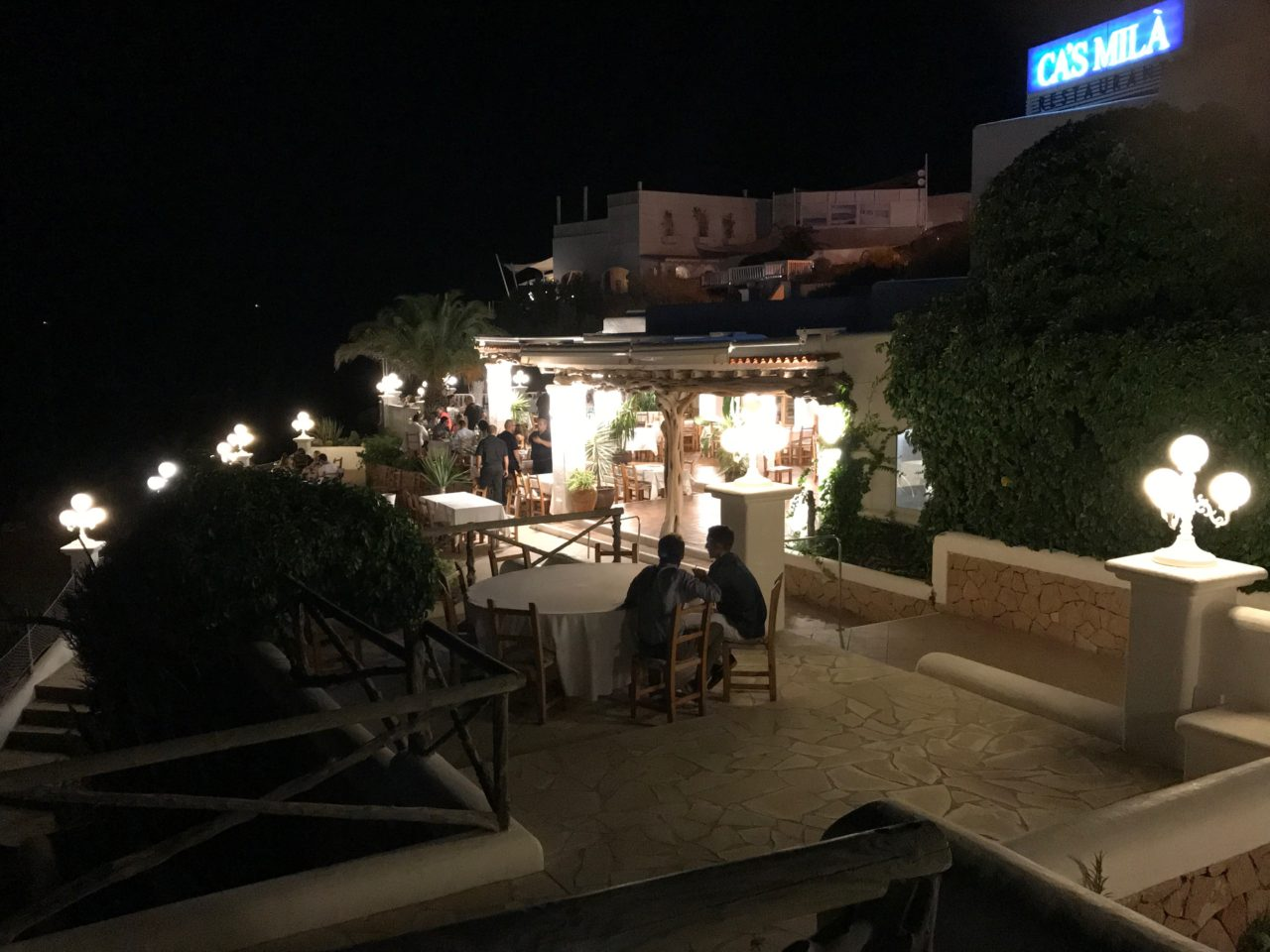 Posh Restaurant By The Ocean In Ibiza