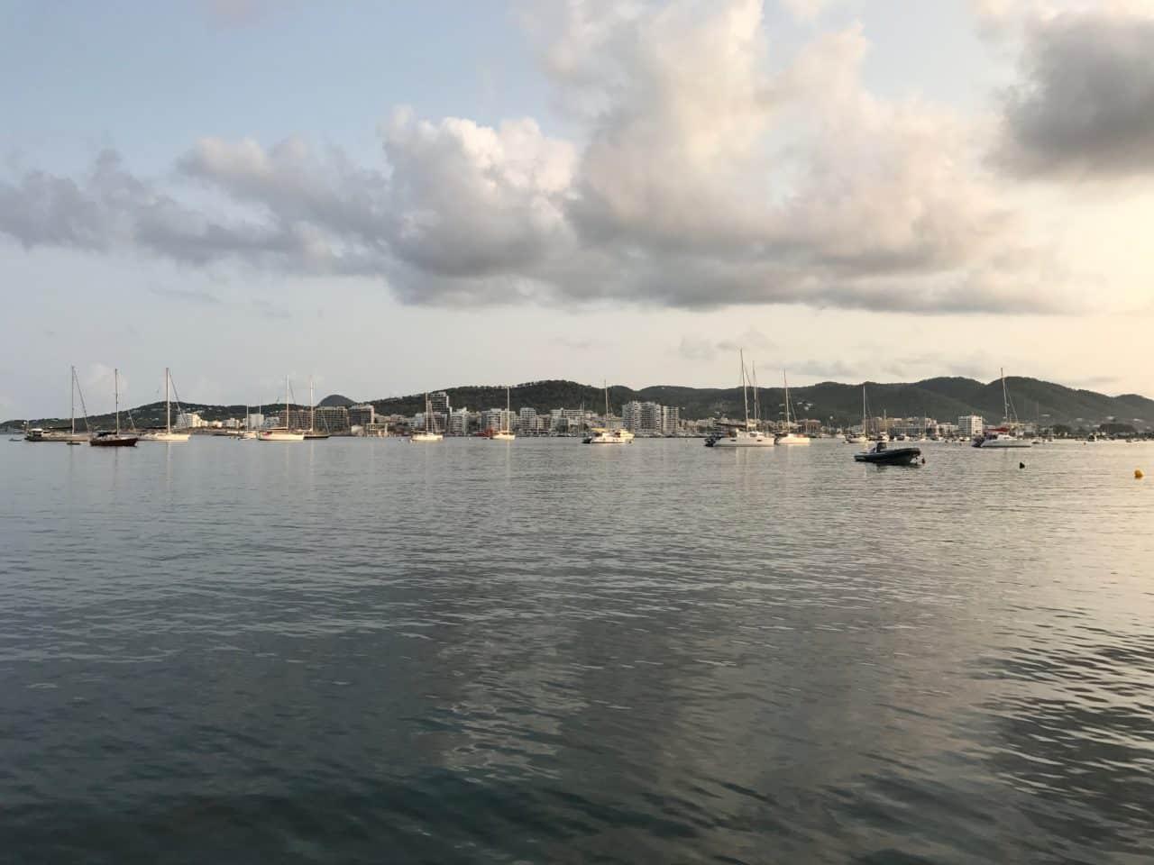 Sailing Boats In Harbor In Ibiza