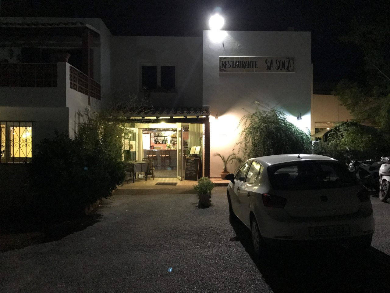 Small Restaurant Entrance At Night