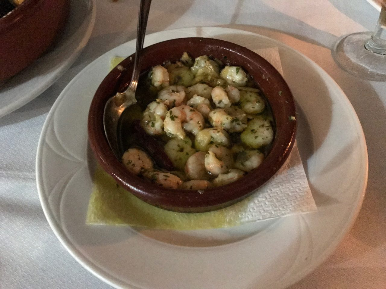 Cooked Shrimp In Butter Starter On A Plate