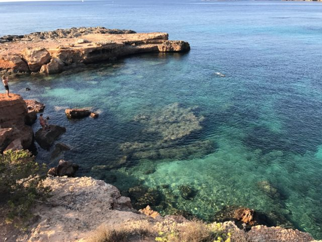 Swimmers In Tropical Water By Ibiza Coast