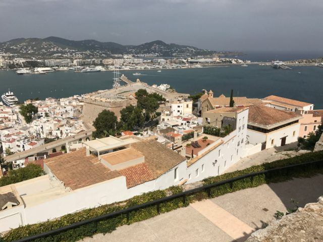 Fortress City View Of Ibiza City And Harbor