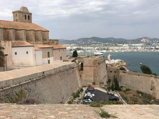 Fortress Wall In Ibiza City With City View