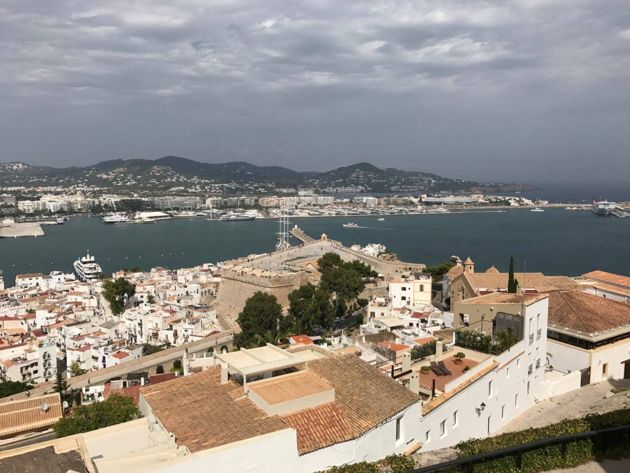 Ibiza Town View From Top Of Fortress