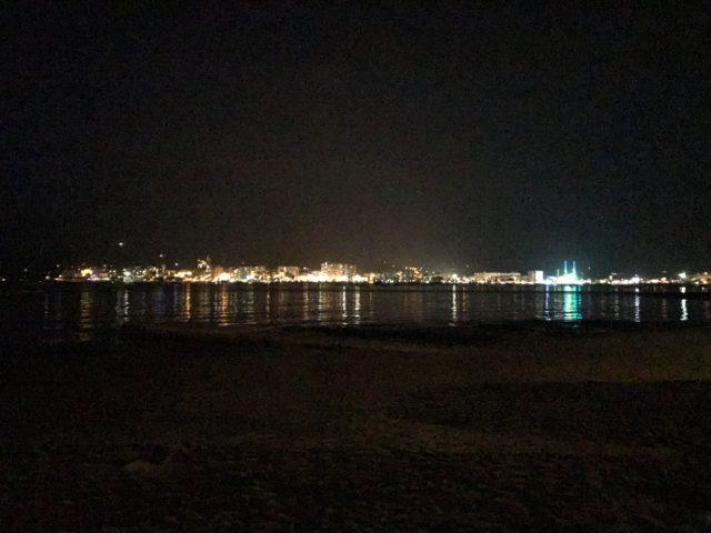 City Skyline Of San Antonio In Ibiza At Night