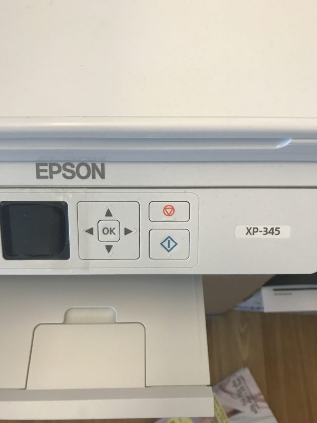 Epson Printer Button And Display Dashboard Closeup