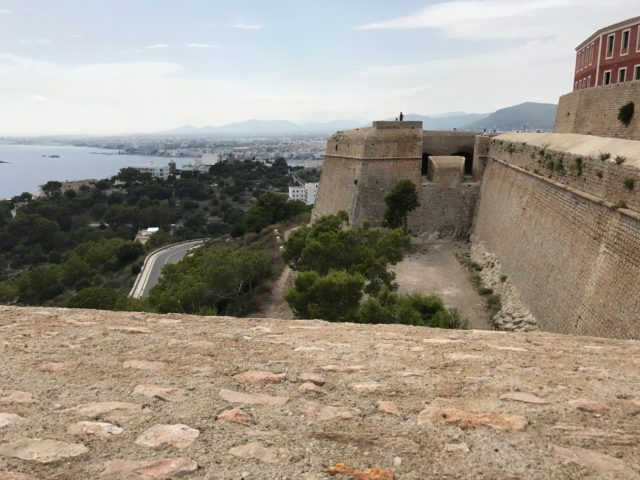 View From A Spanish Fort Over Trees And Sea And Mountains And Society