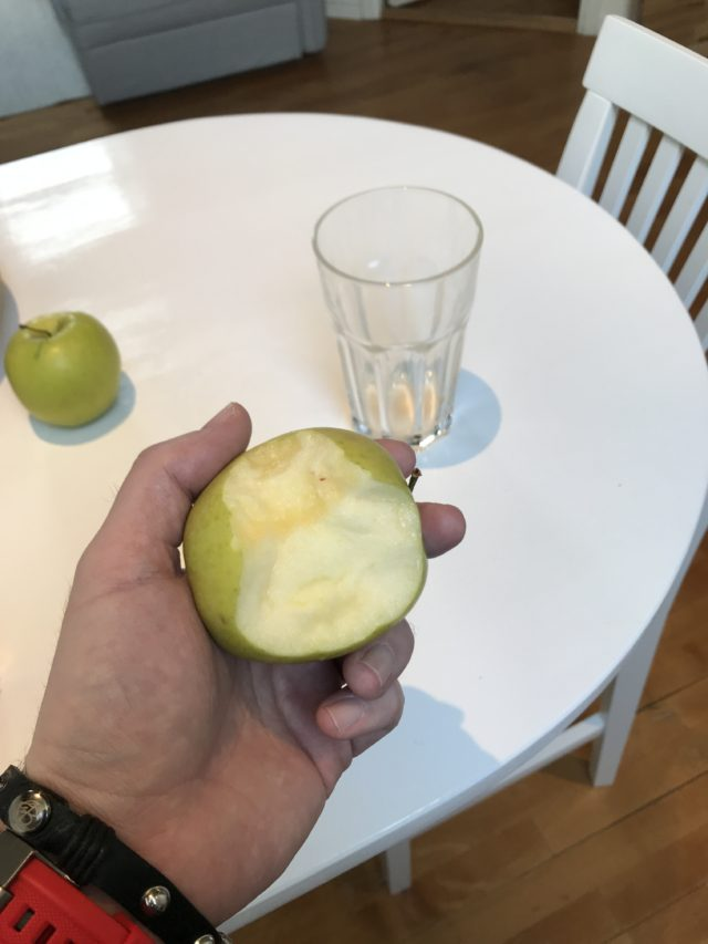 Bite Taken Out Of A Green Apple