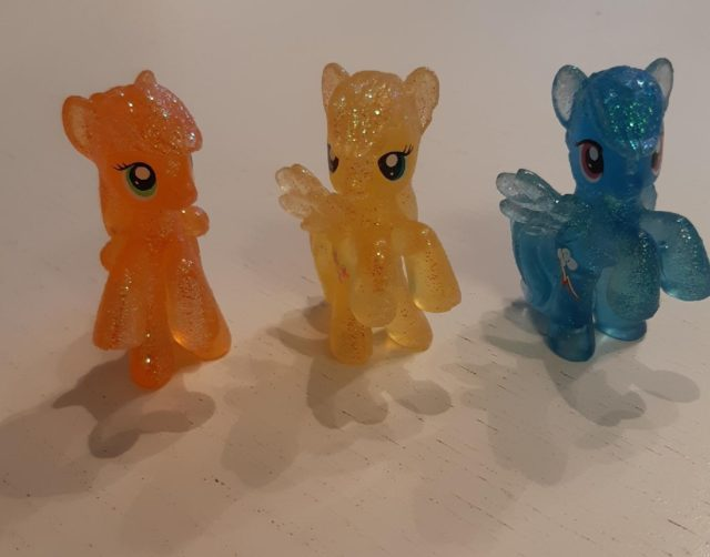 Mini My Little Pony Horses Standing On A White Table
