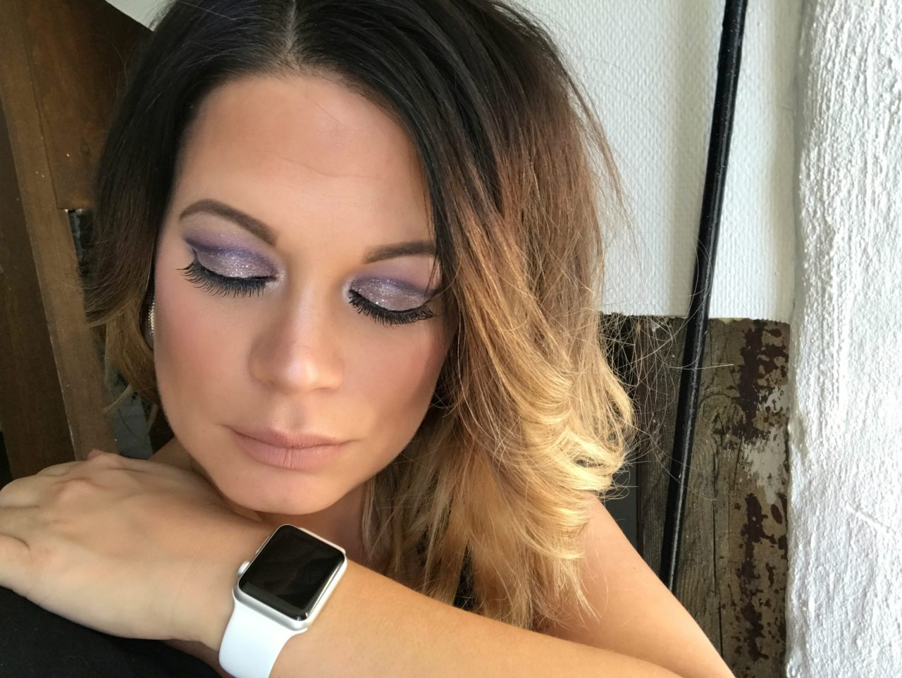 Woman Wearing A White Apple Watch