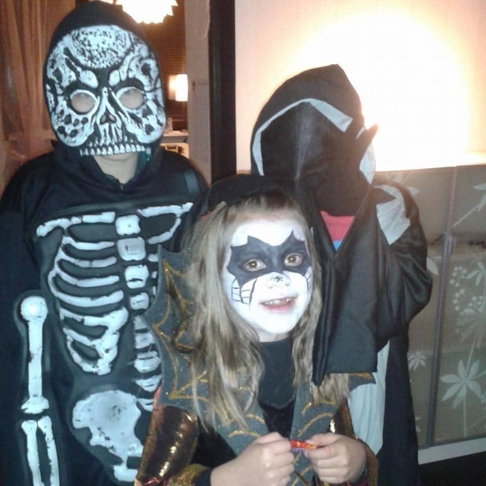 Halloween Dressed children On Trick Or Treat