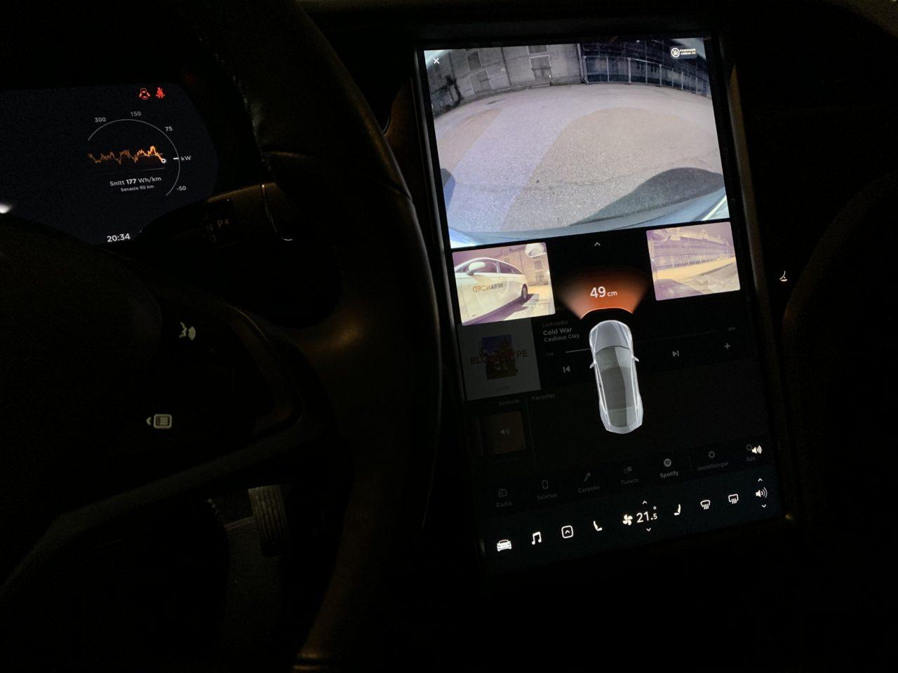 Dashboard Screen Cameras In A Tesla Model S