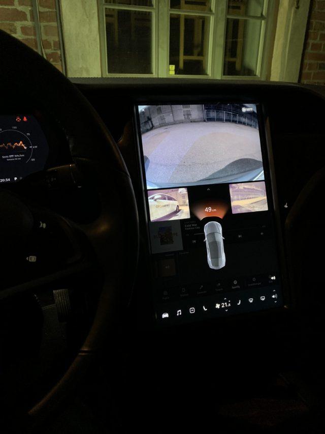 Tesla Model S Interior Dashboard Screen