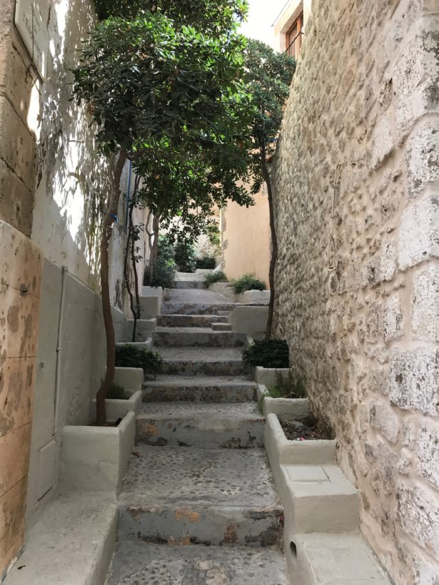 Narrow Staircase In Old Dalt Vila On Ibiza