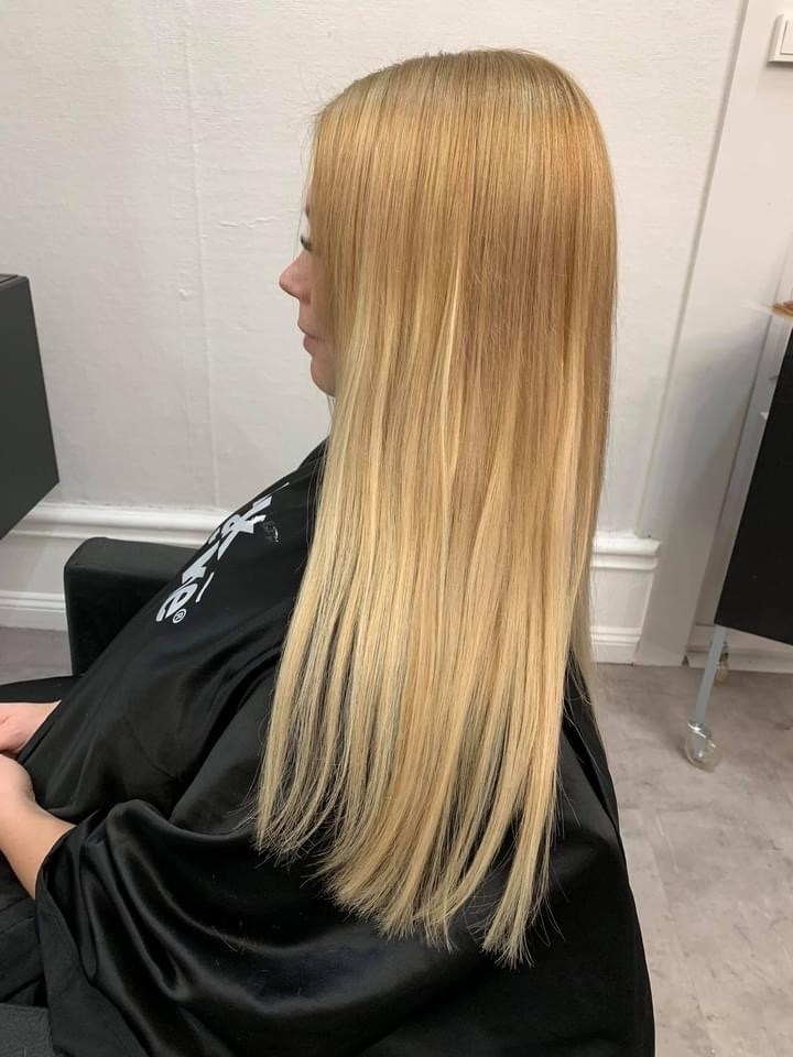 Girl With Long Hair At The Hairdresser