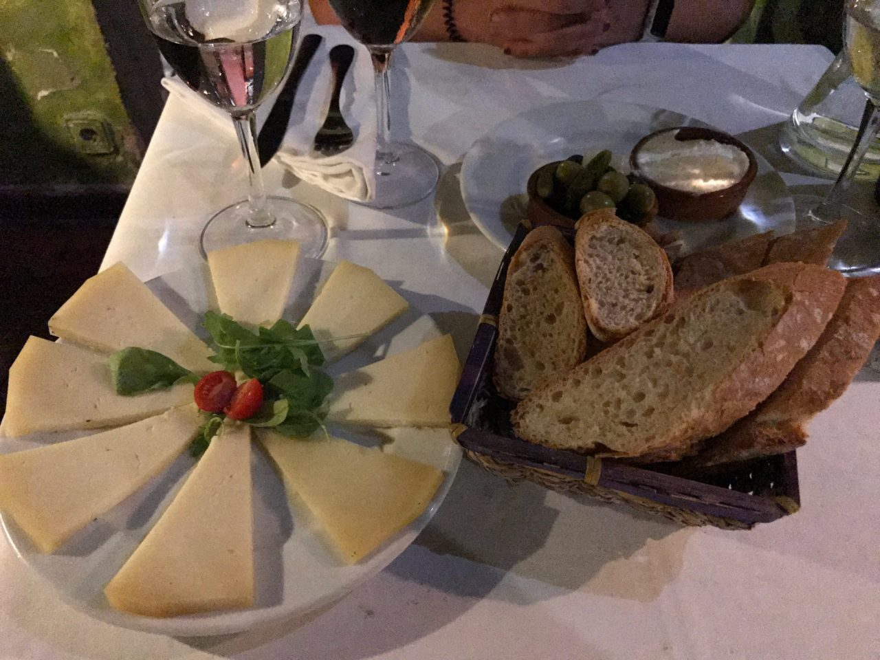 Sourdough Bread And Cheese Plate