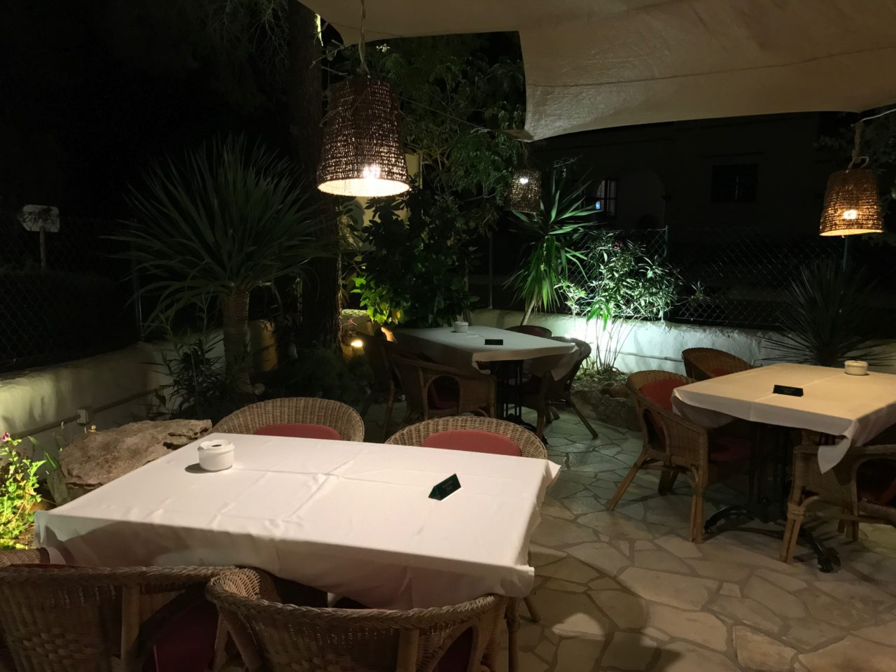 Cozy Restaurant With Tables And Chairs