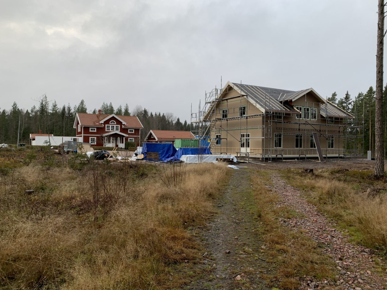House Construction Site On A Field