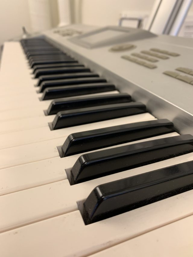 Black And White Keyboard Keys In Studio
