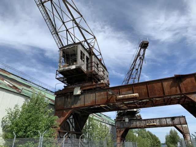 Old And Rusted Harbor Crane