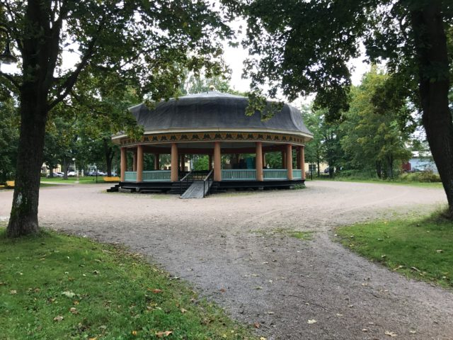 Old Swedish Folk Music Dance Stage In Park