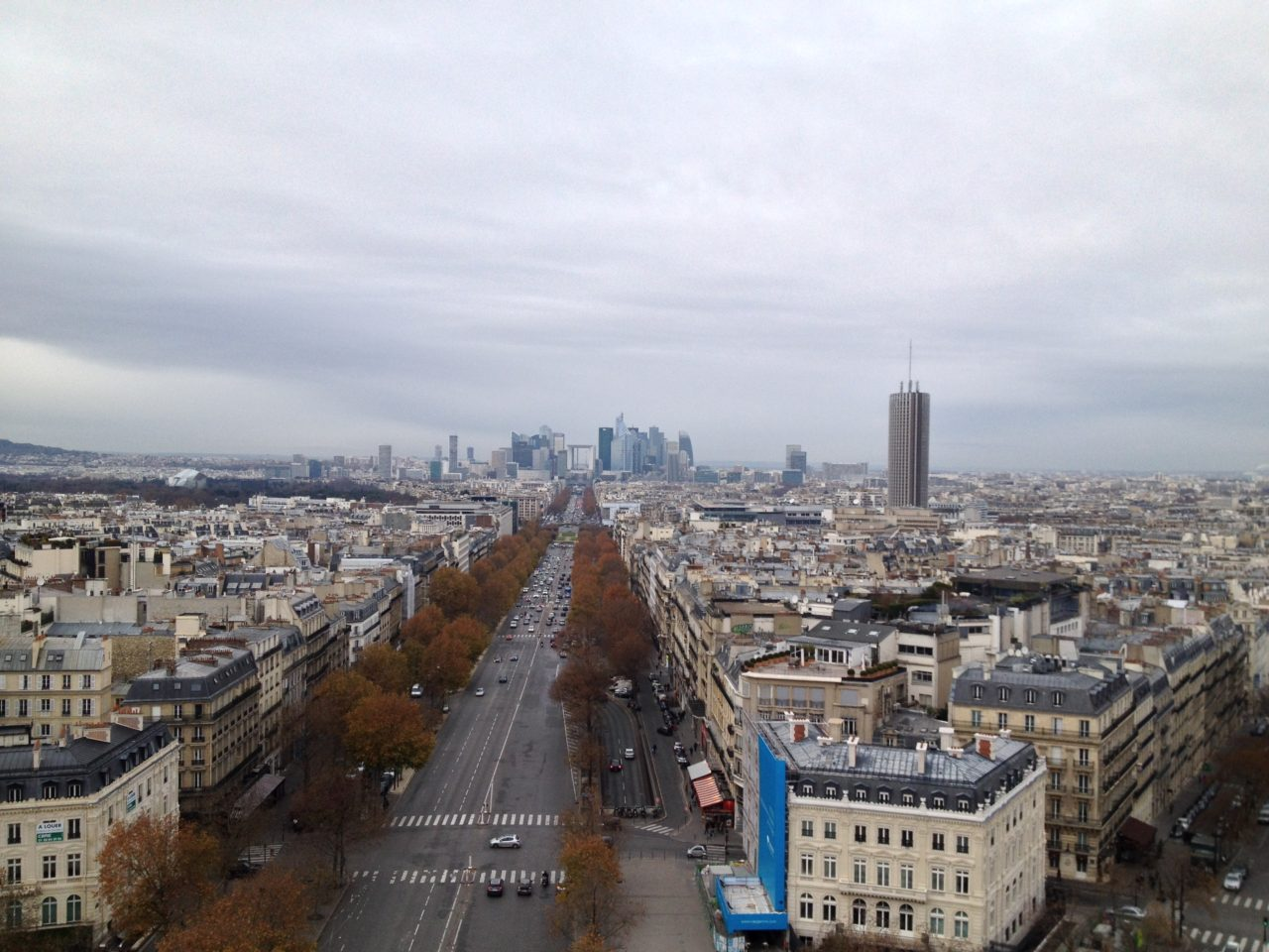 Paris City Skyline With High Rises And Streets