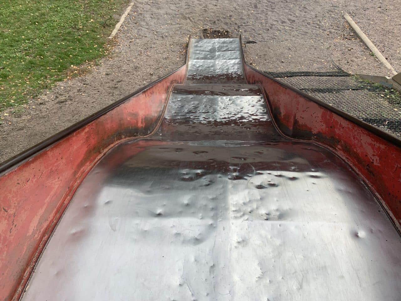 Red Schoolyard Playground Slide For Kids
