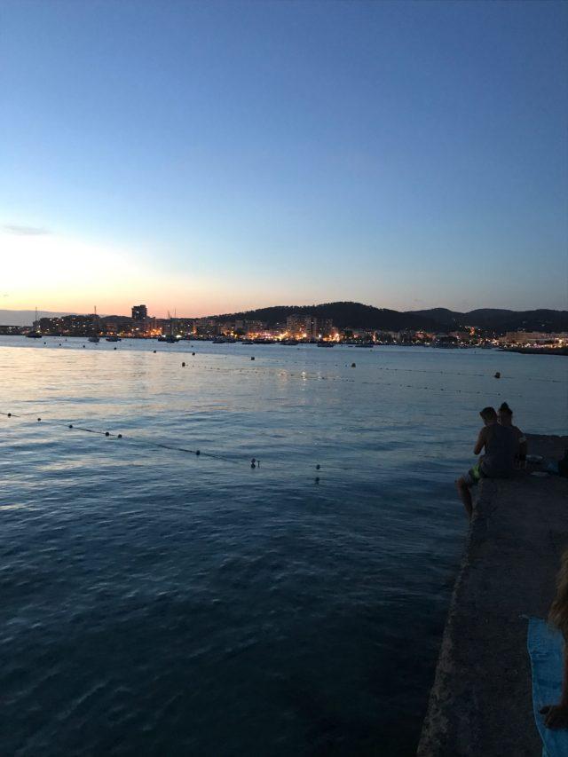 San Antonio City Skyline In Ibiza In The Evening