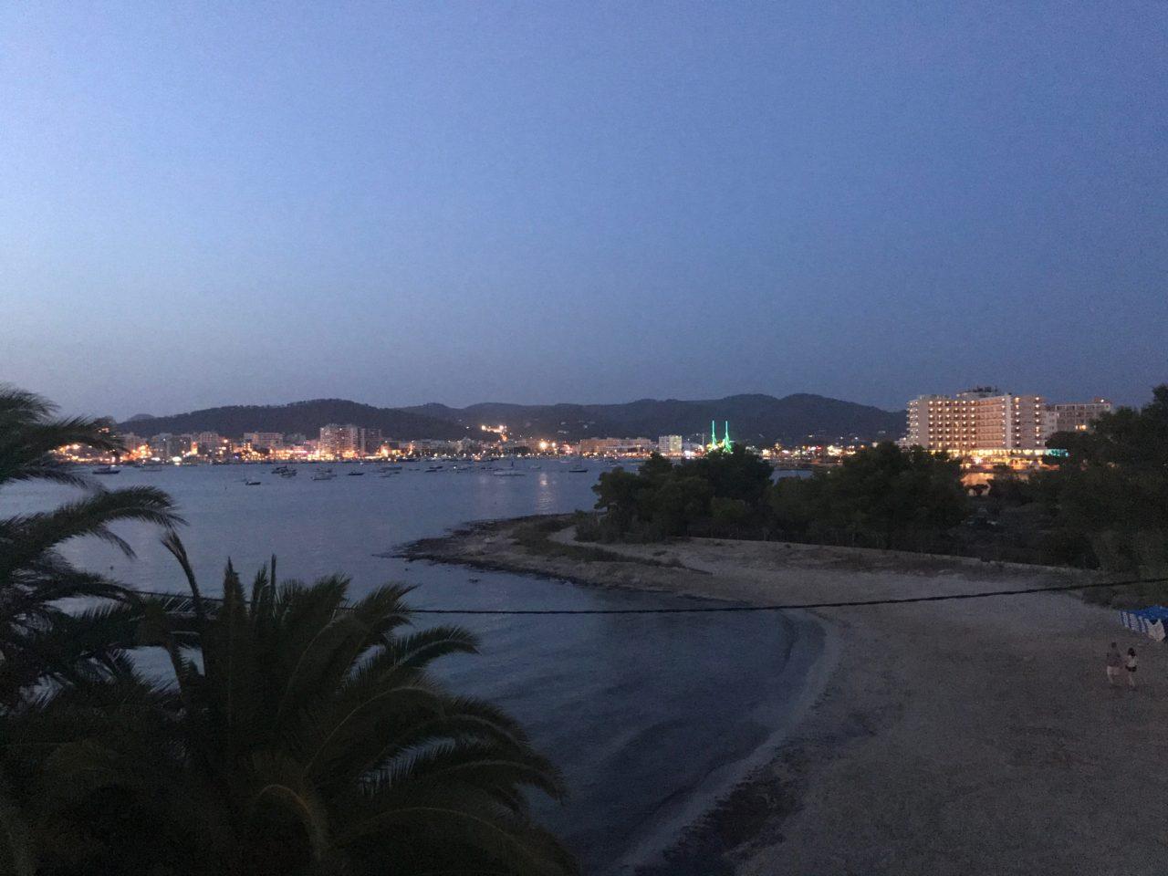 San Antonio City Skyline At Night In Ibiza